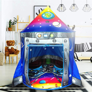 Rocket Ship Play Tent Playhouse | Unique Space and Planet Design for Indoor and Outdoor Fun, Imaginative Games & Gift Foldable Playhouse Toy