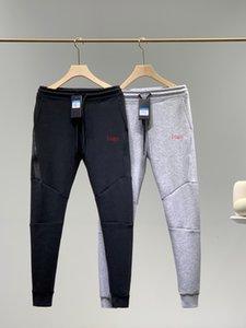 2020 homens sweatpants esportes clássicos empilhados homens calças calça laminadas zipper emenda design superior de materiais Asian corredores tamanho de fitness calças