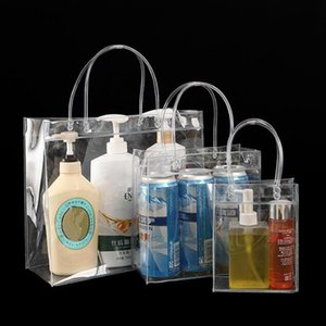 PURDORED 1 pc Clear Cosmetic Bag Waterproof PVC Travel Makeup Bags Transparent Organizer Handbags Toiletry Bag Dropshipping