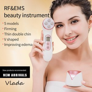 5 In 1 RF Instrument Multi-Function Beauty Face Massager Micro-Current Ultrasonic Facial Cleaner Vibration Skin Care Tools
