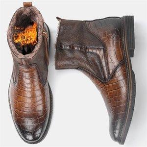 Scarpe da uomo wootten uomo inverno caldo comodo antiscivolo moda uomini stivali invernali 201126