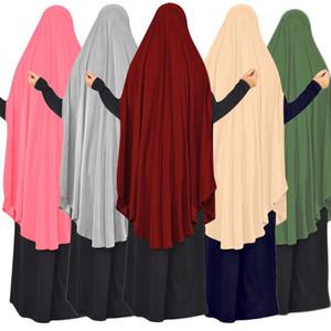 Full Cover Muslim Women Prayer Niquab Long Scarf Khimar Hijab Islam Large Overhead Clothes Hajj Jilbab Ramadan Arab Middle East