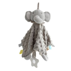 Baby soft soothing soothe minky dot bunny Security toys boy elephant pacify towel newborn teether appease blanket LJ201208