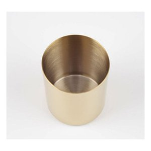 400ml Nordic Style Brass Gold Vase Stainless Steel Cylinder Pen Holder For Stand Multi Use Pencil Pot sqcshB sports2010