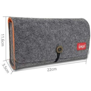 Felt for Nintendo with Wool 5 Game Cards Divide layered, Switch Lite Carrying Case storage bag PG-SL008