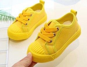Мальчики Холст Обувь Кроссовки Девушки Теннисные Обувь Начальник Детская Обувь Малыш Яркий Желтый Случайный Детский Новый
