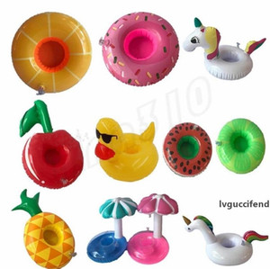 Fashion Inflatable Cup Float Flamingo Cup Holder Coasters Inflatable Drink Holder for Swimming Pool Air Mattresses for Cup Party Supplies