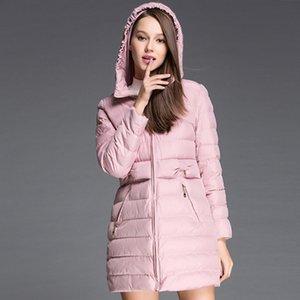 WYWAN Kış Yeni kadın Retro Gevşek Kapüşonlu Bayan Giyim Aşağı Ceket Kadınlar Kalınlaşmış 201102
