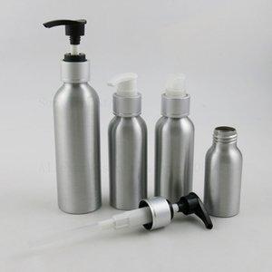 300 stücke leer 1oz 4oz 5oz 30 ml 50 ml 100 ml 250 ml Metallcremelotion Flüssigkeitsflasche mit Pressepumpe Kosmetikbehälter