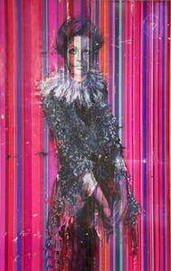 Angelo Accardi Pembe Elbise Sophia Ev Dekorasyon Handpainted HD Baskı Yağlıboya Tuval Duvar Sanatı Tuval Resimler 201227