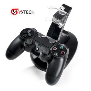 Набор Sytech Free Controller Игра Доставка Двойные аксессуары Синее Света Зарядное устройство Зарядная База для PS4 / Slim / Pro Часть