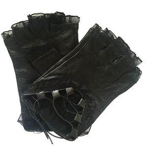 2020 Antiskid Woman Lace Fingerless Performance Fashion Strap Gloves Half finger offer maximum protection Female Gloves Christmas