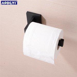 Aodeyi salle de bains Ensemble de quincaillerie Robe noire Crochet porte-serviettes Bar rack étagère Porte-papier Porte-brosses à dents Accessoires de salle de bbyJrt