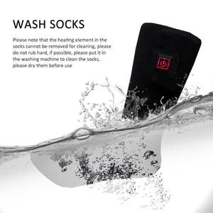 1Pair Регулируемый Аккумуляторные электрический Нагревательный носки Кнопка нагрева электрическим током носки Двойной Тепловое хлопок