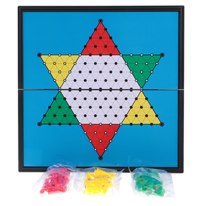 Classic Chinese Checkers Board Game Student Kid Home Travel Toy Set New