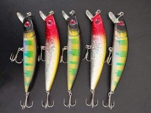 Wholesale 30Pcs Lot Fishing Lures Crank bait Minnow Hooks Fishing Baits Hooks Bass 15.2g 11cm