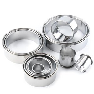 14 Pcs Stainless Steel Round Mousse Circle Kitchen Gadgets Cookie Mold Bakeware Cake Tools Baking Tools DIY Cake Mold