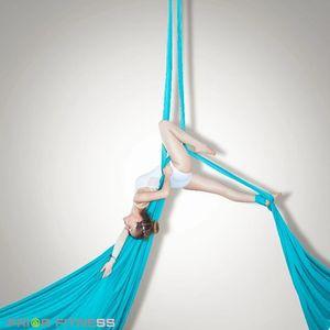 Prima forma fisica deluxe 10 yards tessuto di seta antenna 100% nylon bassa seta antenna ad alta resistenza acrobatica volante da ballo di seta J0115