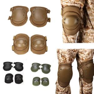 Outdoor Sports Army Hunting Paintball Shooting Camo Gear Protective Airsoft Kneepads Tactical Elbow & Knee Pads P13-003