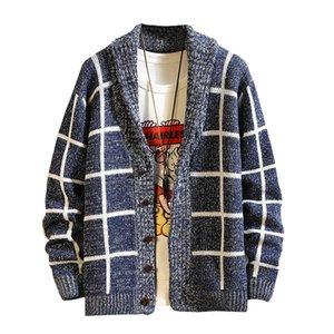 Para hombre rayada Cardigan Top de punto Hombre Otoño Invierno jersey de punto ropa de otoño nueva llegada tapas M-3XL