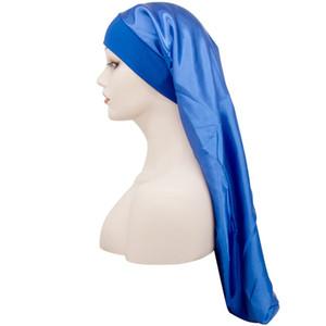 Sombreros largos Seda Satin Bonnets Cabello Cabeza Wrap Aplicado Durag Ponagy Laasticity Elasticity Cap Soop Fashion Beanie Turban Mujeres Lady 5 68dc C2