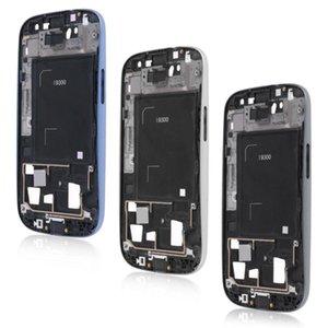 Nuevas piezas originales LCD Frontal Bezel Frame Placa FacePlaca FUTARIA para Samsung Galaxy S3 S III GT -I9300 Silver Black Envío gratis