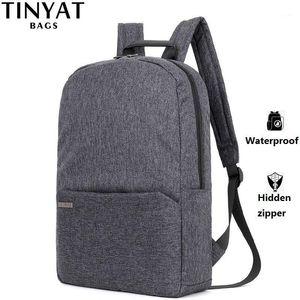 Tinyat Hommes Sac à dos pour ordinateur portable pour 15 '' Ordinateur MOCHILA ESCLOAR Sac à dos à l'eau imperméable à l'épaule de toile adolescente1