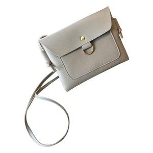 Simple Fashion Women Messenger Bags Ladies' PU Leather Handbag Solid Color Metal Ring Girls Casual Shoulder Bag Sac Main Femme