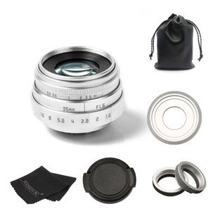 nuevo llegan Fujian 35mm f1.6 montaje C cámara CCTV lente II para Sony NEX con montura tipo E Adaptador de plata paquete de la cámara