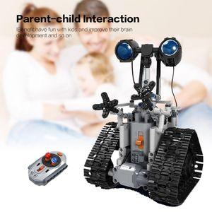 408PCS Город Креатив RC Robot Electric Building Blocks Technic дистанционного управления Интеллектуальный робот Кирпичи игрушки для детей подарок