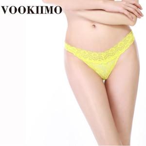 VOOKIIMO Sexy Thongs para as Mulheres 7 Ladies Color Plus tamanho T-Back Sexy Underwear G-Cordas Lacy roupa interior Calcinhas Tanga