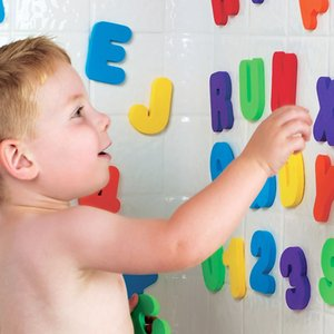 36Pcs A-Z Letters And 0-9 Numbers Baby Kids Children Foam Floating Bath Tub Stickers Toddler Child Toys Wall Stickers #30