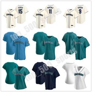 24 Ken Griffey Jr. 34 Felix Hernandez 11 Edgar Martinez 17 Mitch Haniger 15 Kyle Seager 51 Suzuki Ichiro 7 Marco Gonzales Mariners Jersey