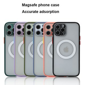 Metel Magnetic Phone Case For iPhone 12 Pro Max Mini 11 X XS XR 8 For Magsafe Charger Protective Cover Wireless Bumper Thin Capa