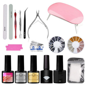 UV LED Lamp Dryer Nail Gel Polish Set Soak Off Manicure Tools Set Electric Nail Drill For Acryli Art Tools