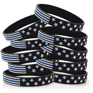 2020 American Flag Wristband, USA Flag Design Silicone Bracelet Fitness Sport for United States mix styles