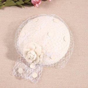 2019 Fascinating Fedoras Elegant Female Wool Felt Mesh Bow Floral Pillbox Hat With Veils Ladies Fascinator Wedding Hats Lm013 H wmtwzq