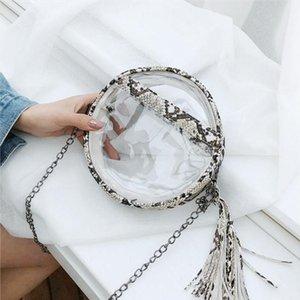 Serpentine Round Shape Shoulder Bag Handbag Lady Transparent PVC Mini Crossbody Bags for Women