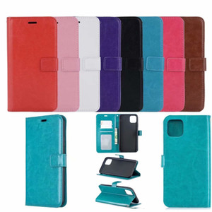 Solid wallet case with card holder For iphone 7 8 plus X XR XSMAX 11 pro max 12 pro max Samsung S20 plus Note 20 TPU shockproof case inside