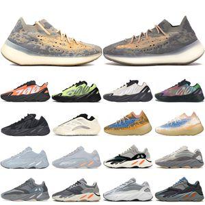 New kanye 700 Men Women Running shoes Mist Reflective Blue Oat Solid Grey Static V3-Alvah Teal Blue mens trainer sports sneakers