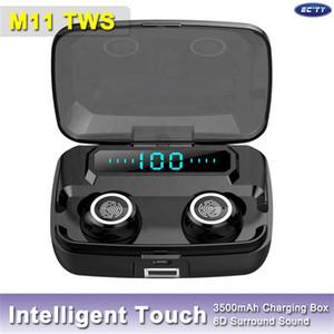 M11 TWS Bluetooth Earphones Waterproof Earbuds 3600mAh Power Bank with LED Digital Display Binaural HD Call for iPhone 12 mini pro max 11
