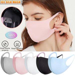 5pcs Health Cycling Cotton Washable Reusable Face Mouth Mask 3D Cloth Anti-dust Safety Fashion Designer Women Men Mouth Masks