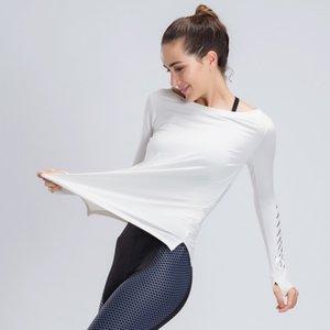 KACIGEYA Fitness Woman Sports Wear Tops volle Hülsen-T-Shirt Quick Dry Gym Yoga-Frauen Kleidung Gym Laufen Jogging Shirts