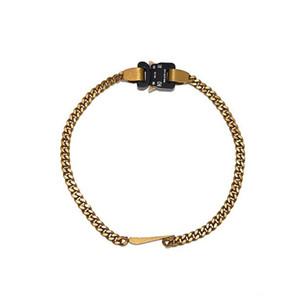 2019 Launch 1017 Alyx Studio Logo Металлические Цепи Ожерелье Мужчины Женщины Мода Браслет Браслет Хип-Хоп Уличные Уличные Аксессуары Фестиваль Подарок Бесплатный корабль