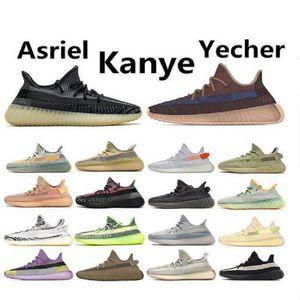 Barato blanco Kanye West blanco Hombres Mujeres zapatos para correr Yecheil Abez hiperespacio Lundmark Antlia estático reflectante cebra Israfil Oreo lino