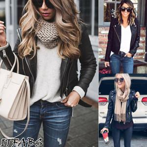 Women's Long Sleeve Turn Down Collar Jacket Loose Winter Warm Leather Jacket Suit Street Big Size