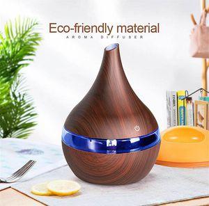 2020 TOP humidificador noche lámparas de 300 ml Aroma de Navidad USB eléctrico de aire Difusor de regalo de madera humidificador ultrasónico Para el hogar