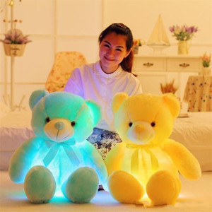 Glowing Spilleed Animal LED Lampeggiante Peluche Cute Light Up Coloful Teddy Bear Dolls Toy Kid Toy Toy Birthday Holiday Gift Sea Shipping GWB4215
