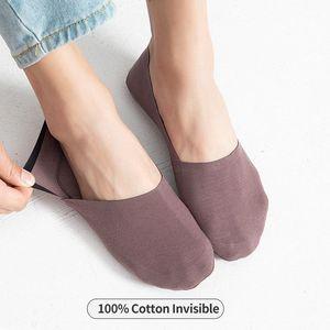 100%Cotton Soft Invisible Socks Men Thin Short Crew Male cut Silica Gel Antiskid no show socks non-slip Summer sock 1Pairs1