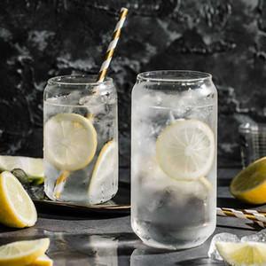 الإبداعية شفافة الكوك جرة كأس المحمولة عصير زجاج الحليب كوب ماء القهوة كأس الآيس كريم المنزلية الشرب يمكن زجاجات الكؤوس VT1750